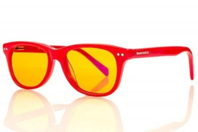 Kids Neon Swannies - Red